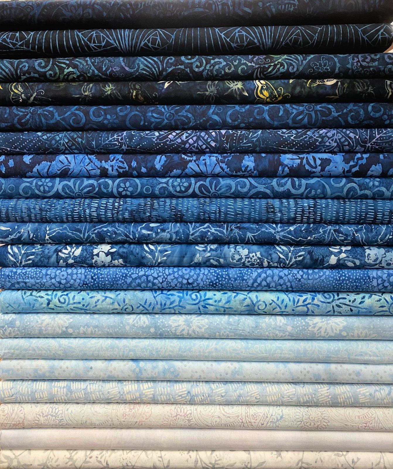 Blue Moon Batik Fat Quarters - 20 FQ's