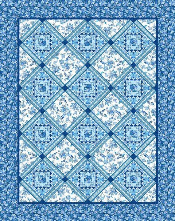 Brianna Blue Quilt Kit
