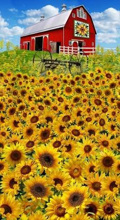 Quilt Barn Sunflower Panel