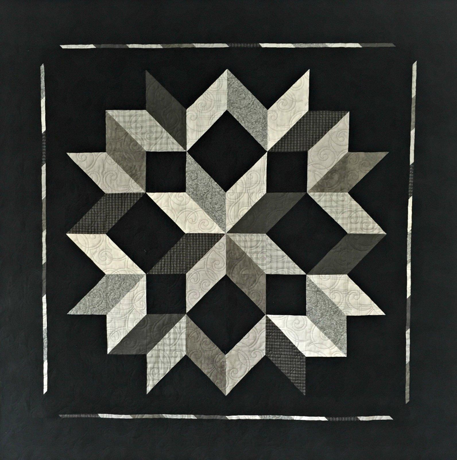 Carpenter Star Gray/Black Flannel Kit