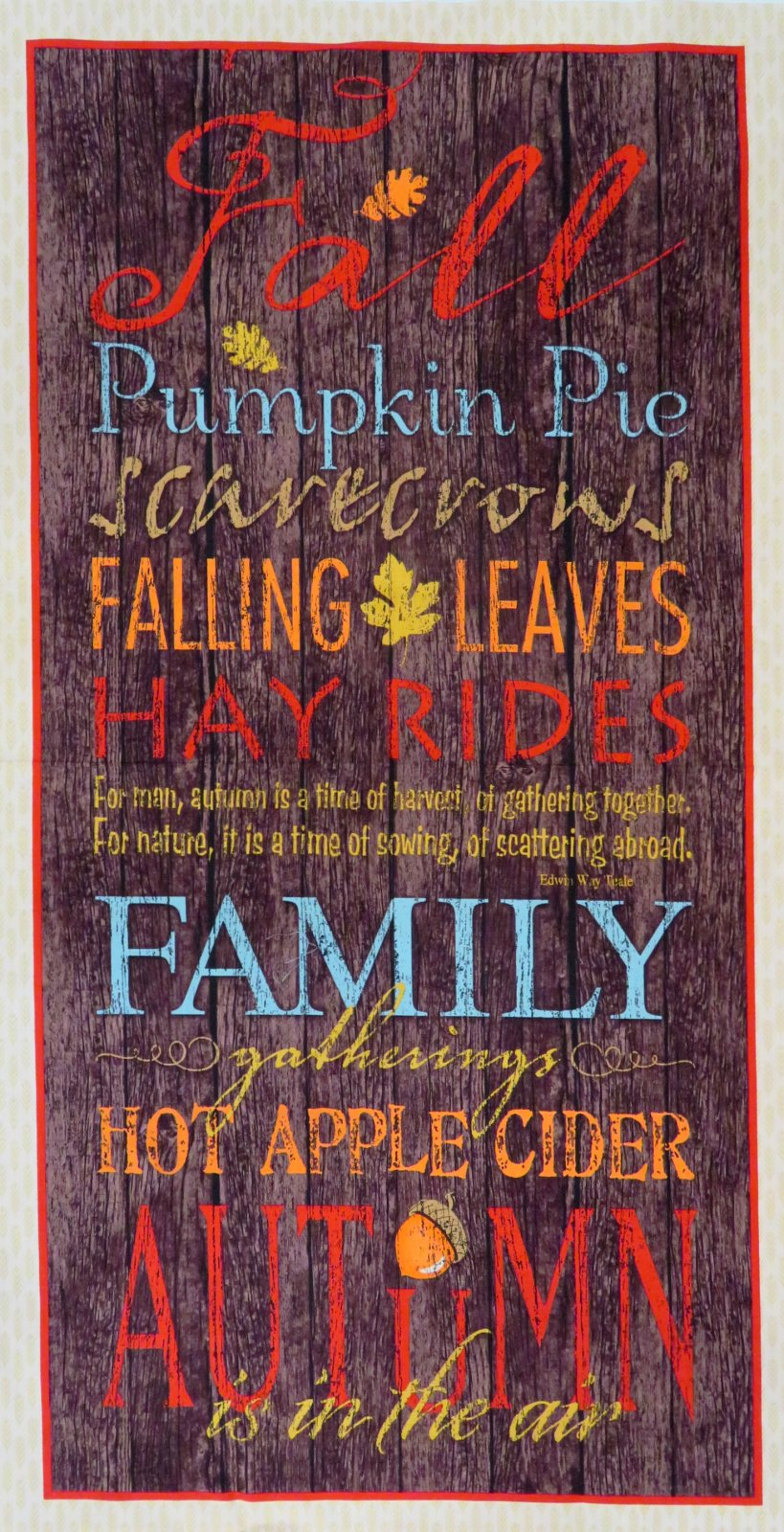 Colors of Fall Panel