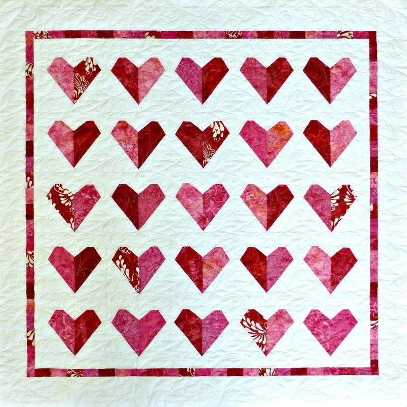 Crazy Hearts Quilt Kit