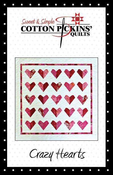 Crazy Hearts Quilt Pattern - Digital Download