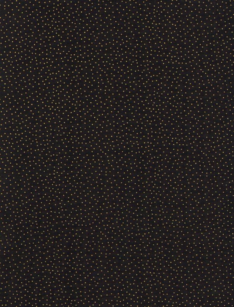 Black Metallic Dots