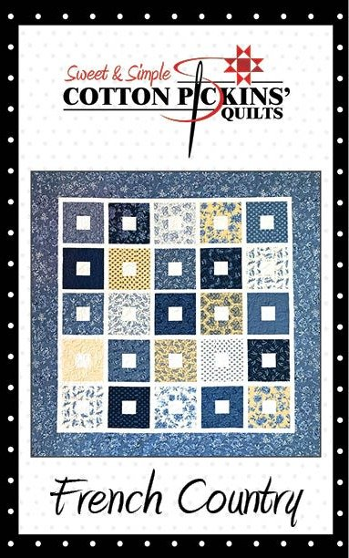 French Country Quilt Pattern - Digitial Download