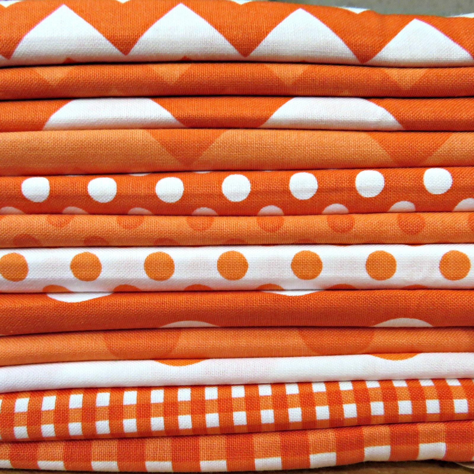 Funky Oranges Fat Quarters - 12 Fat Quarters