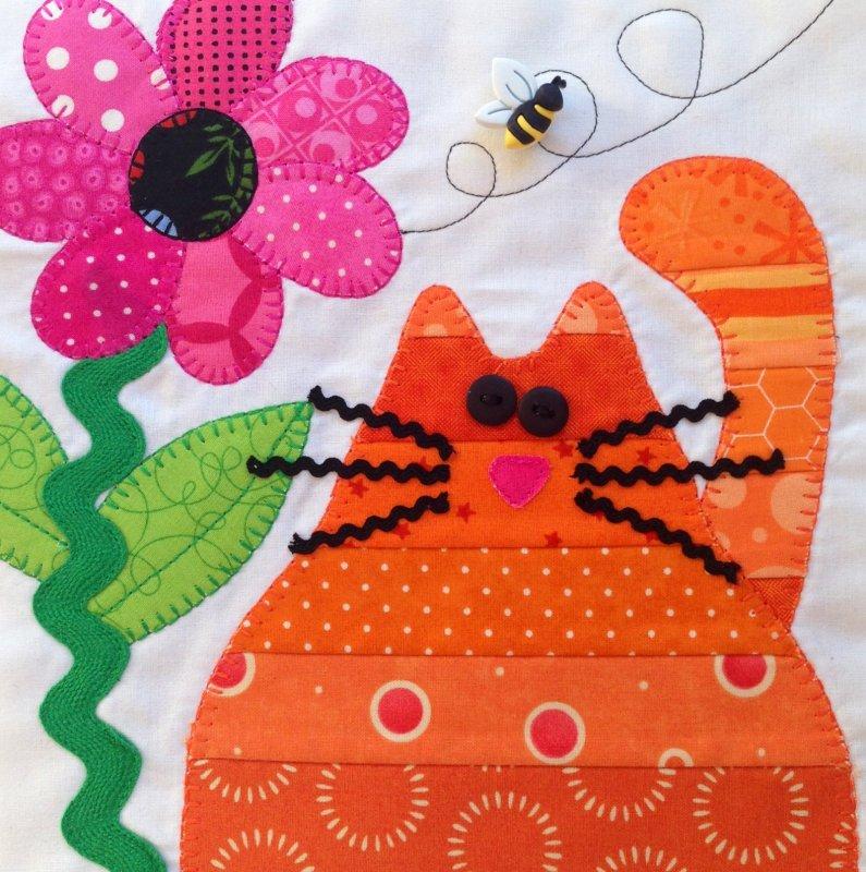 2013 Shop Hop Chubby Kitty Block Pattern Only