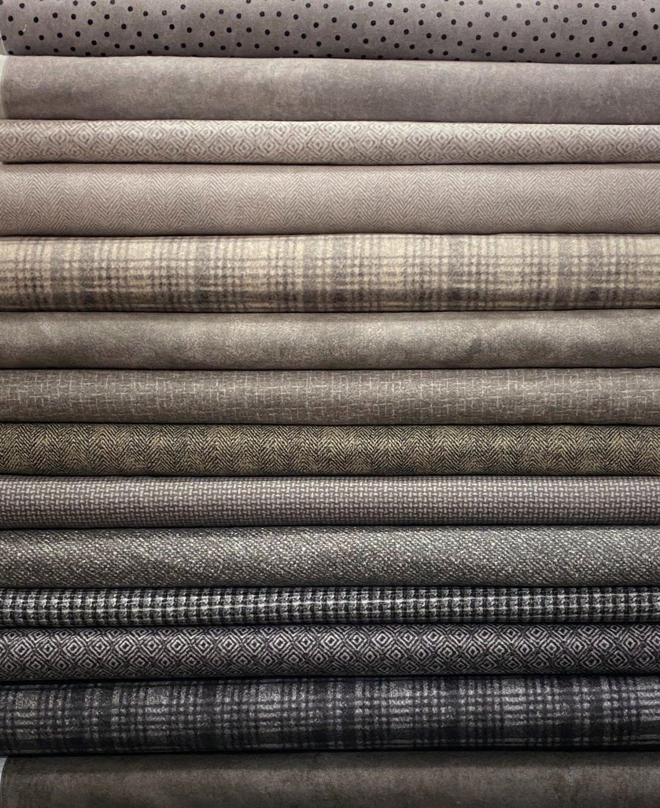 Gray Flannel Fat Quarters - 14 FQ's