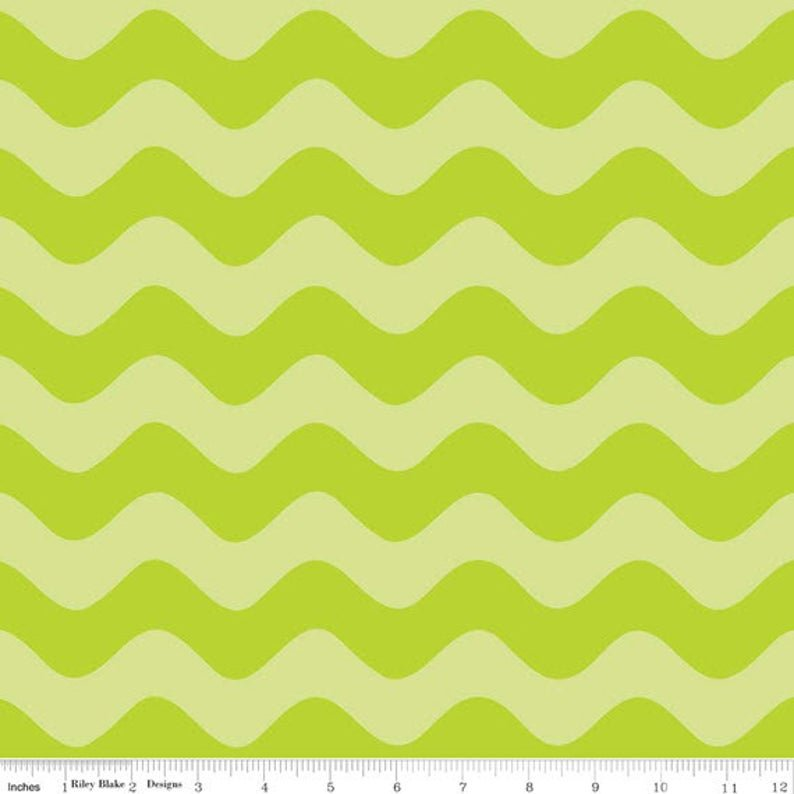 Green Wave Fabric
