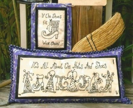 Hats & Shoes & Brooms - Machine Embroidery CD