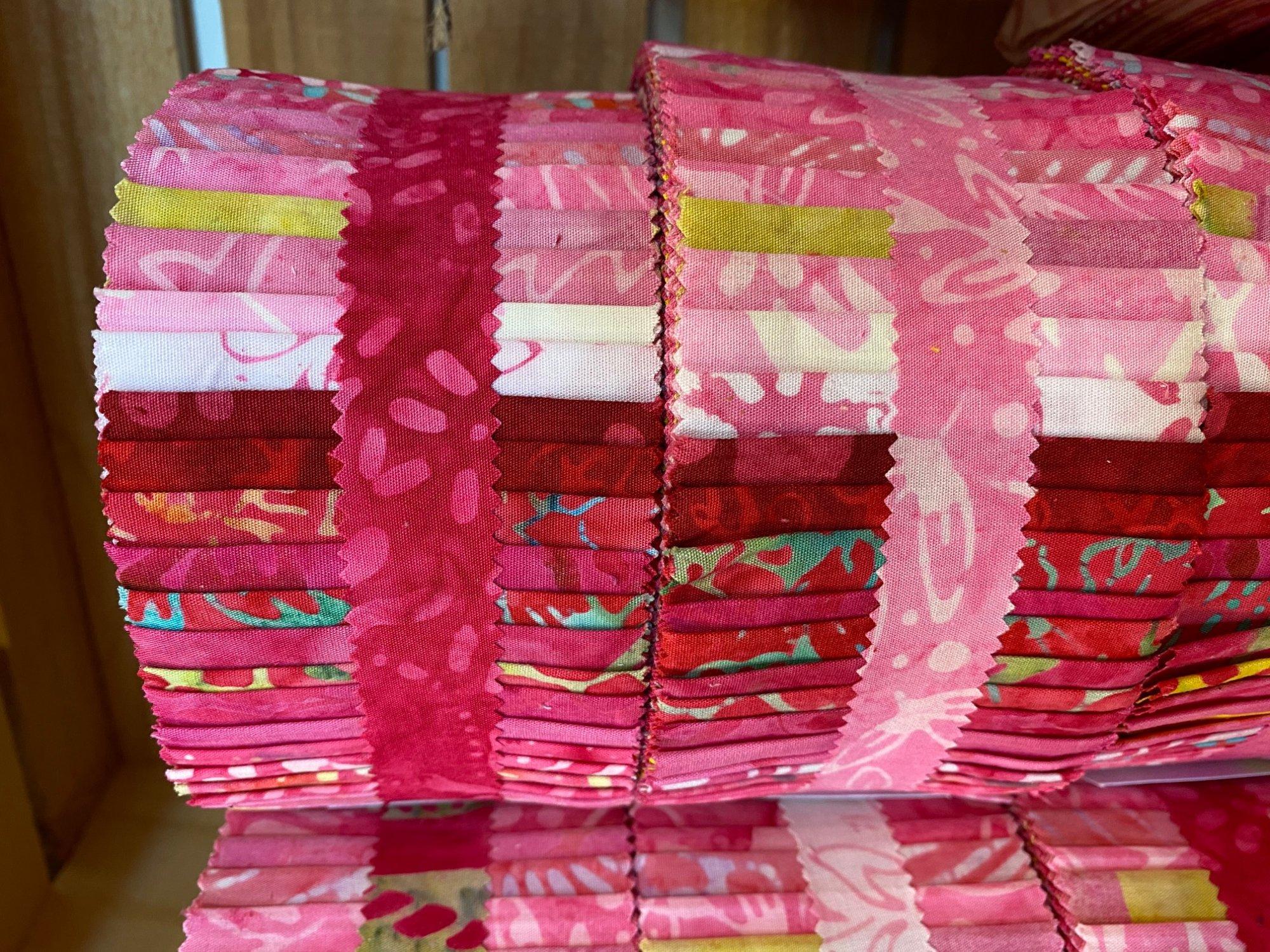 Java Batiks Pink Jelly Roll