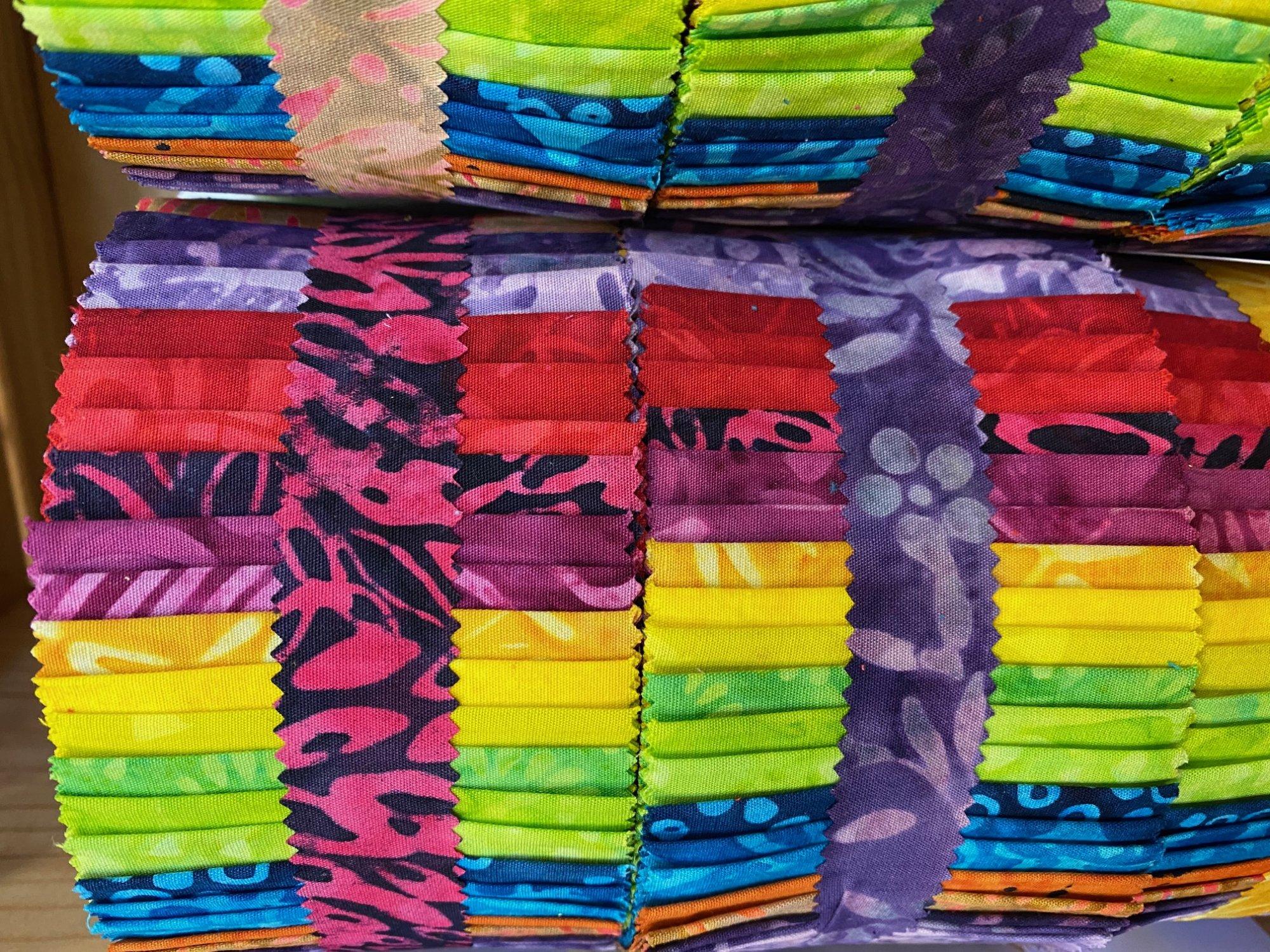 Java Batiks Rainbow Jelly Roll