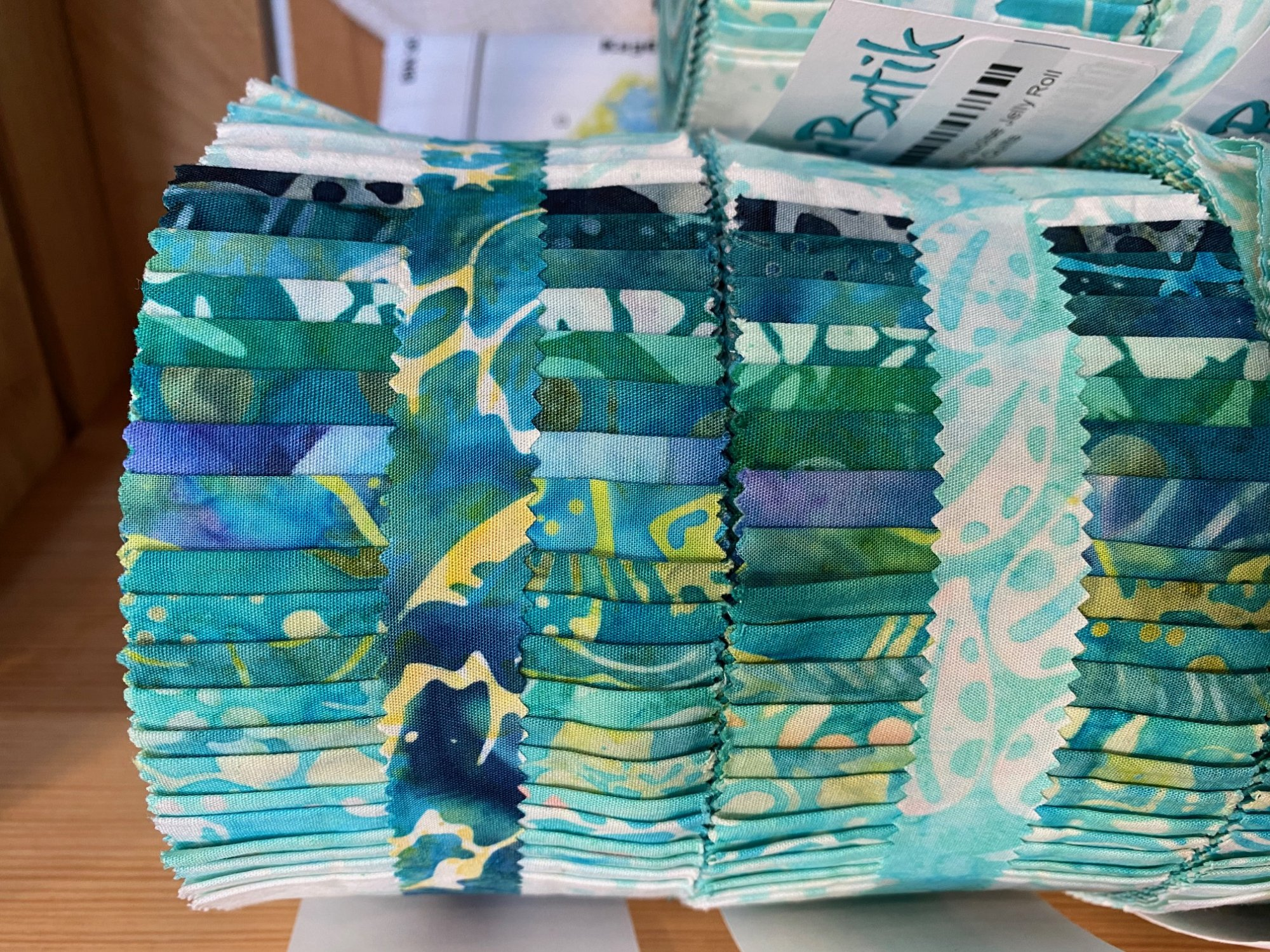 Java Batiks Turquoise Jelly Roll