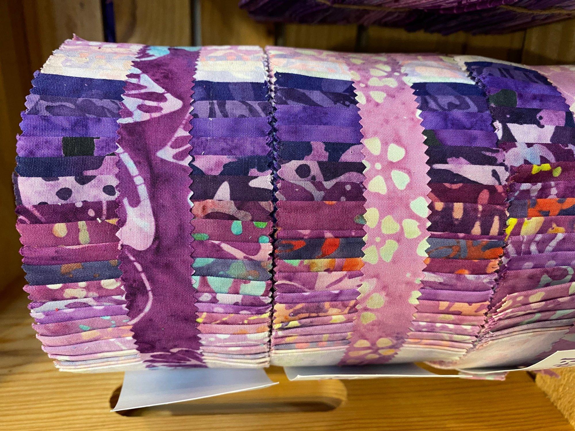 Java Batiks Purple Party Jelly Roll