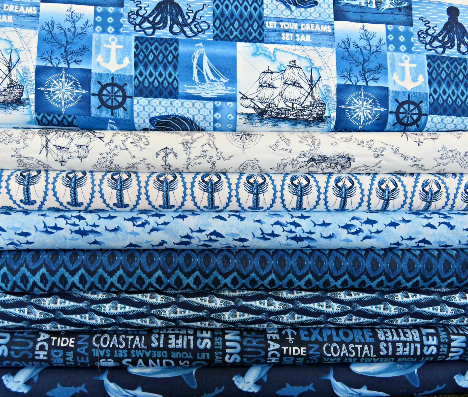Indigo Coastal - 8 Fat Quarters