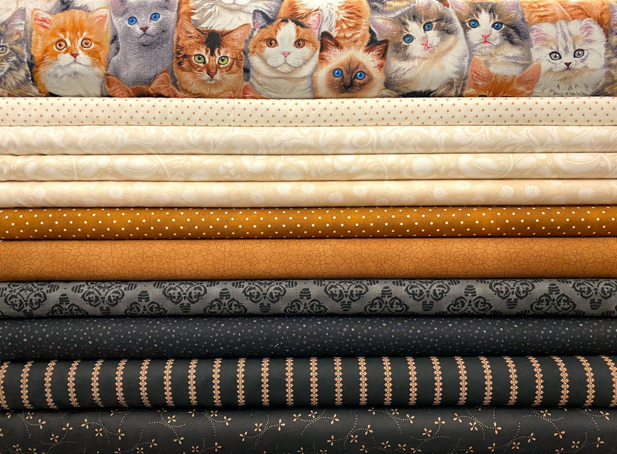 Kitty Fat Quarter Bundle - 11 Fat Quarters