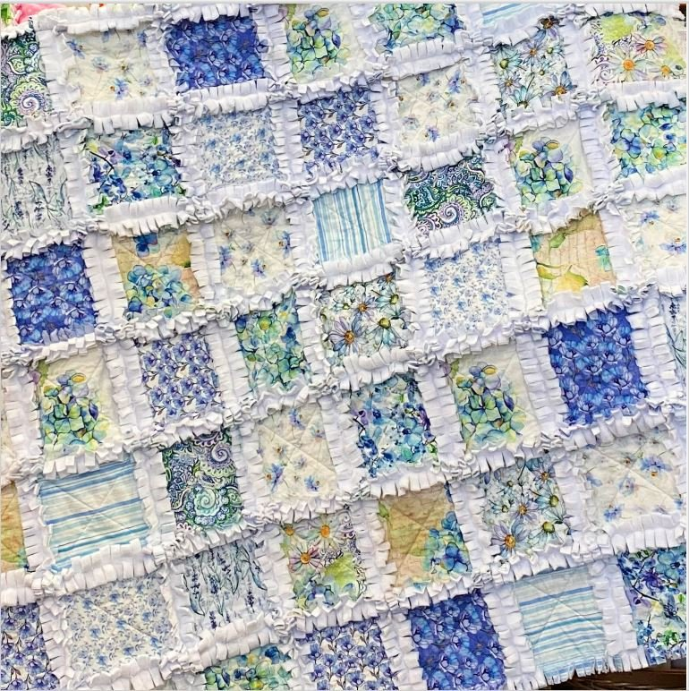 Leah Rag Time Quilt - Small Lap Size