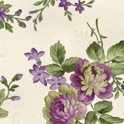 Aubergine Ivory Elegant Floral