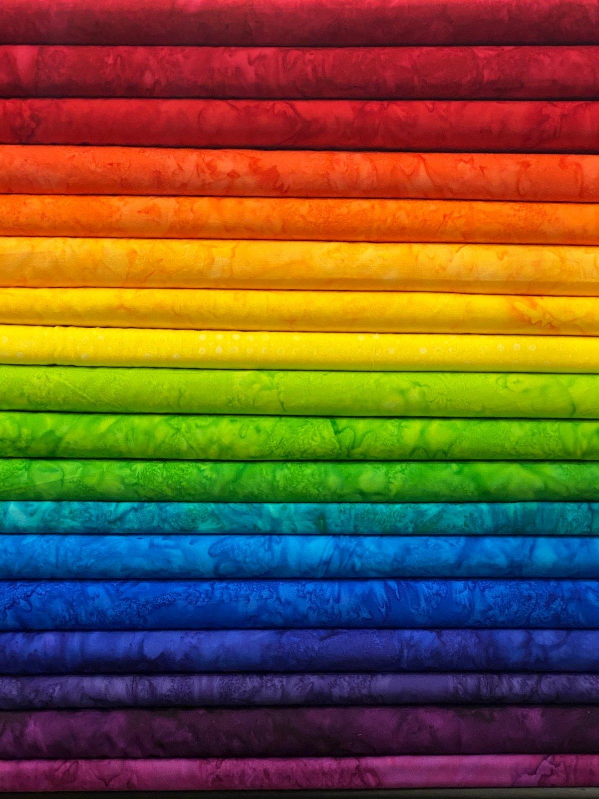 Rainbow Batiks - 18 Fat Quarters