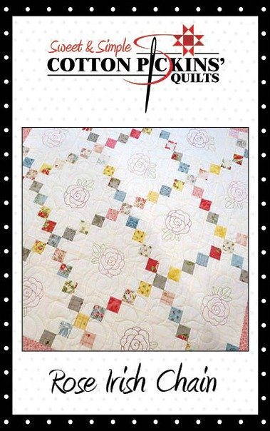 Rose Irish Chain Quilt Pattern - Digital Download