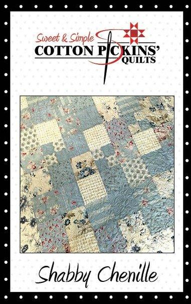 Shabby Chenille Quilt Pattern - Digital Download
