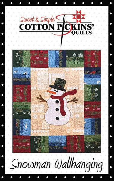 Snowman Wallhanging Pattern - Printed