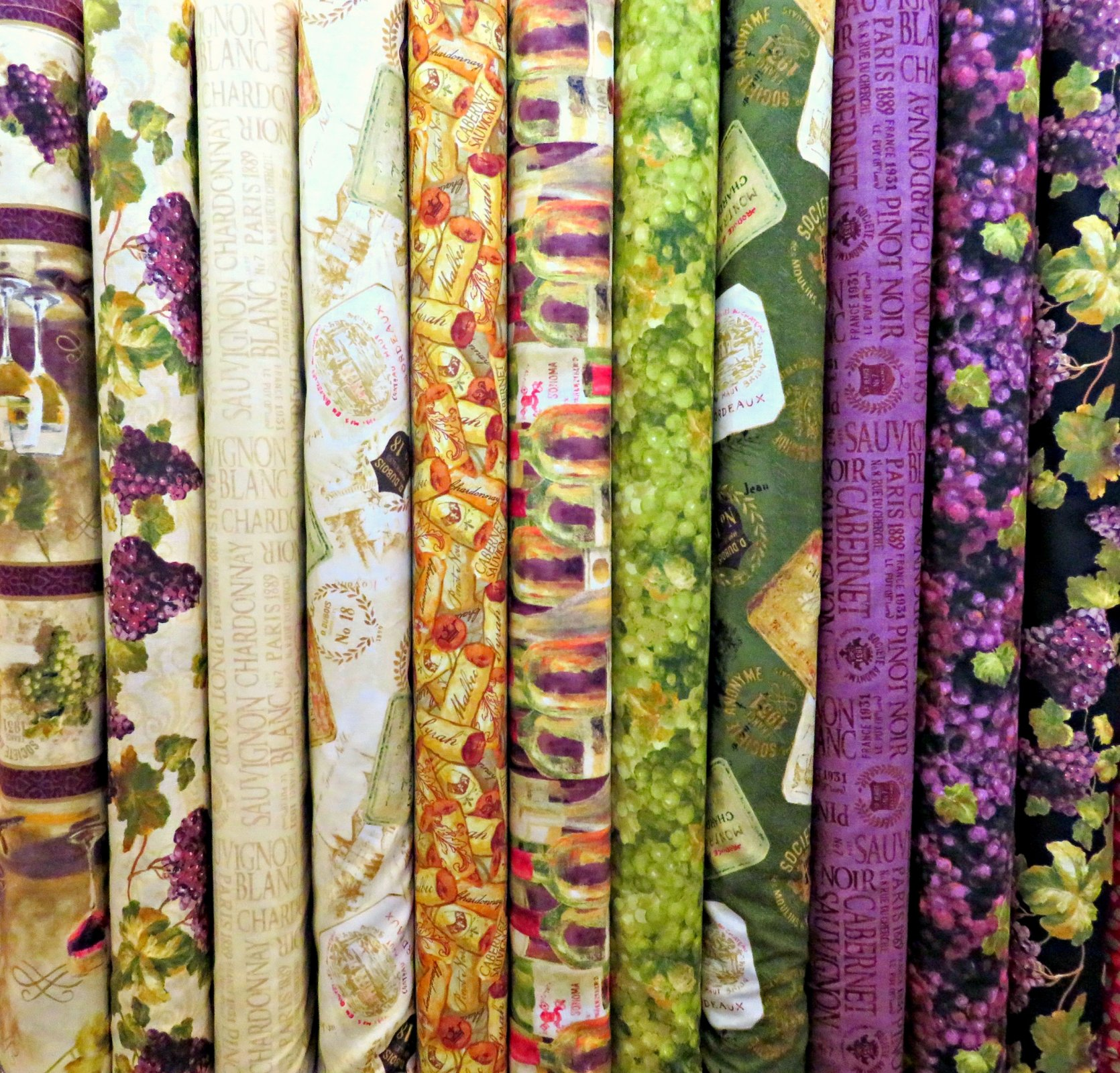 Uncorked Fat Quarters - 11 FQ's