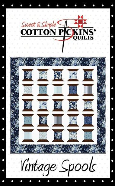 Vintage Spools Quilt Pattern - Printed