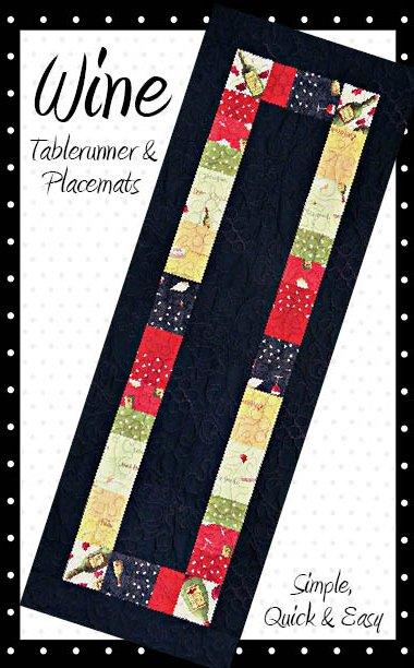 Wine Tablerunner Pattern