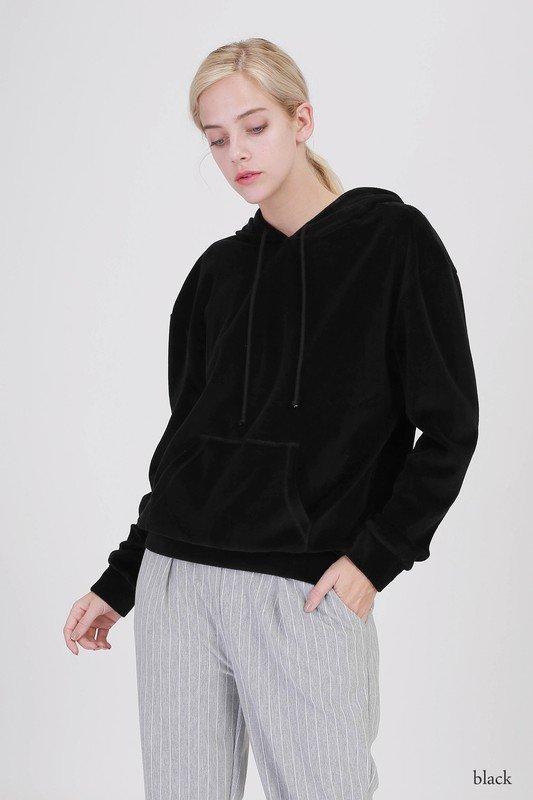 Hoody - Velour BLACK