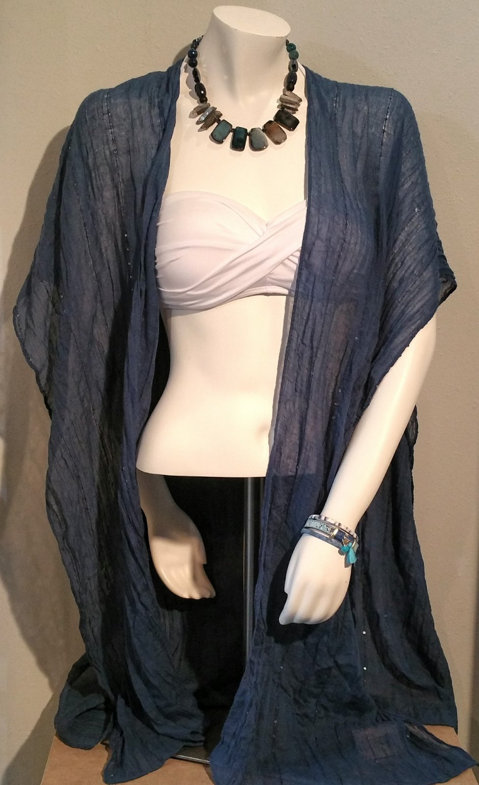 Cover Up - Navy Wrap  OS ONE SIZE