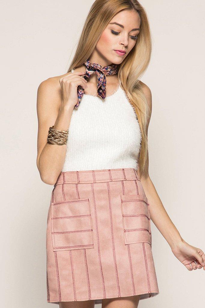 FAUX LEATHER Mini Skirt ROSE * JR / Ms / Adult PT