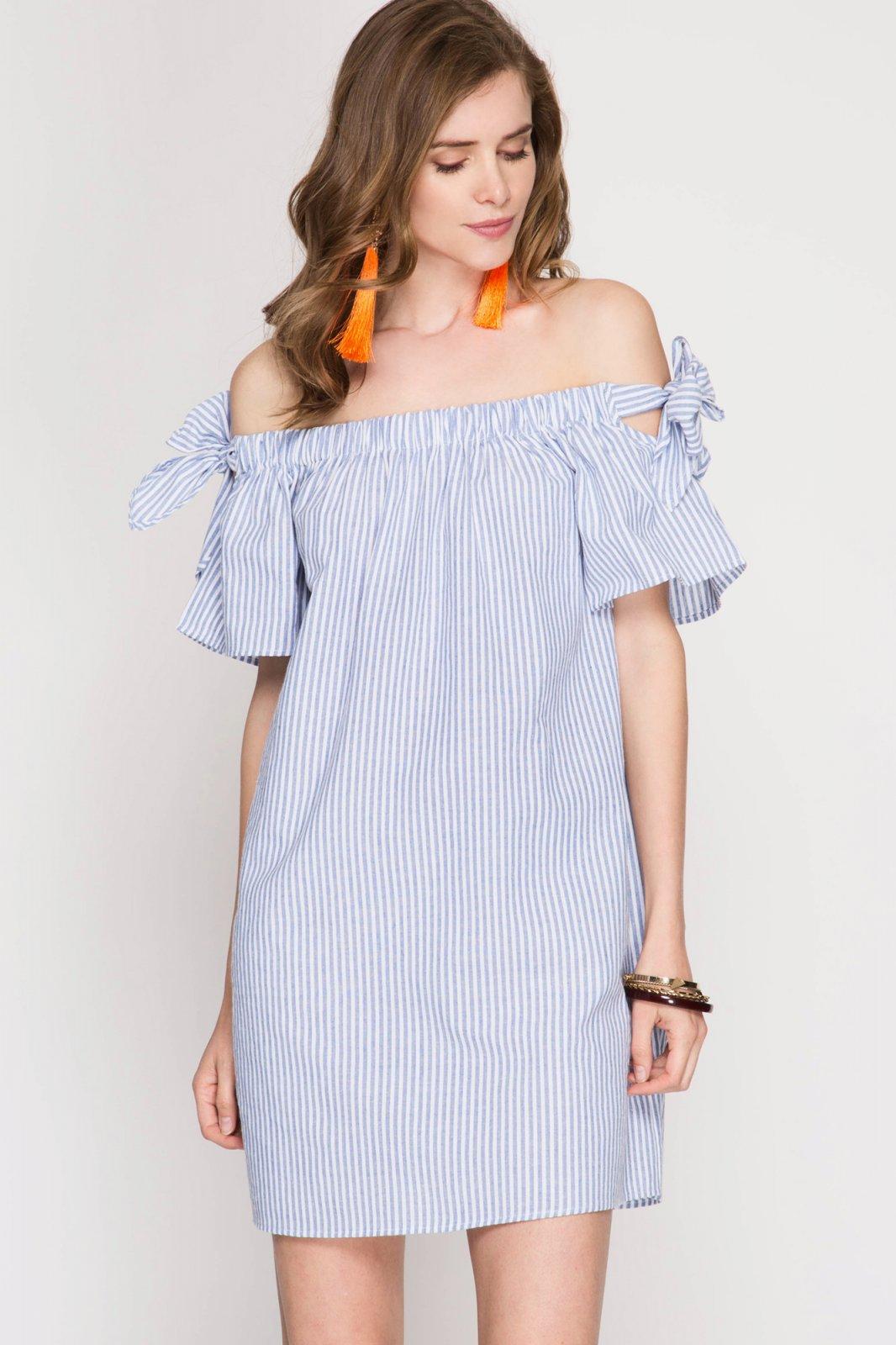 DRESS * Off the Shoulder BLUE JR / Ms / Adult PT