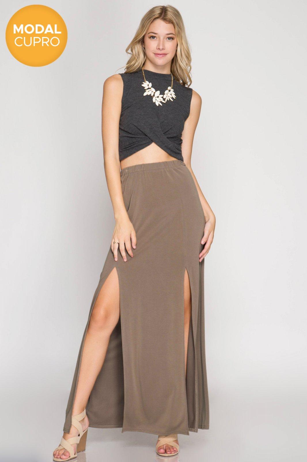 BOTTOM Maxi Skirt LIGHT MOCHA * JR / Ms / Adult PT