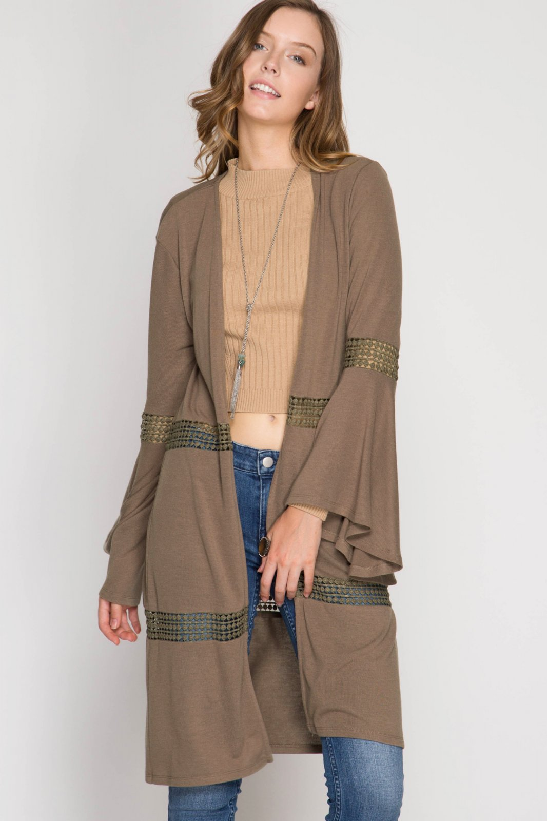 CARDIGAN Cover Up MOCHA * RAYON