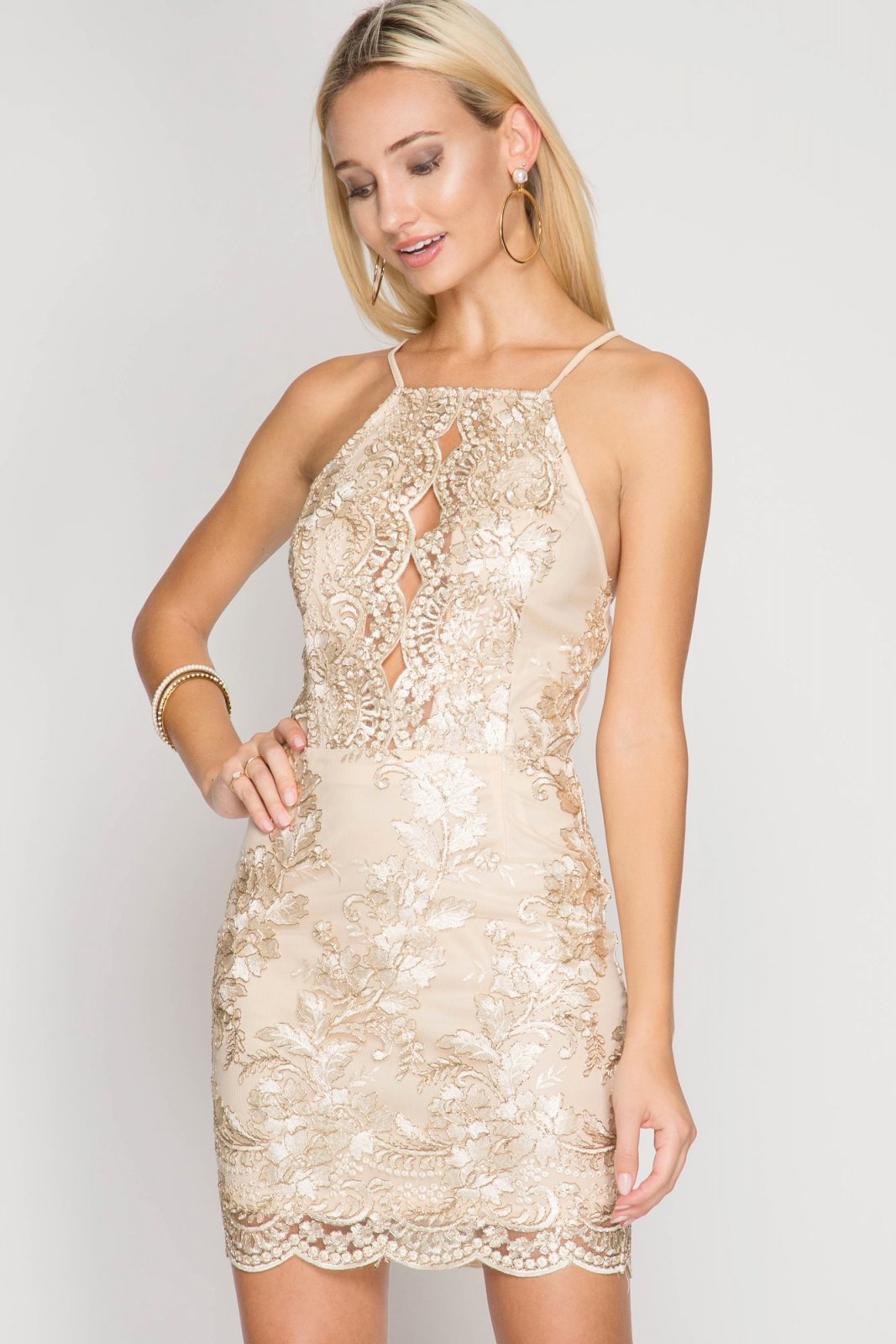 COCKTAIL DRESS Bodycon NATURAL