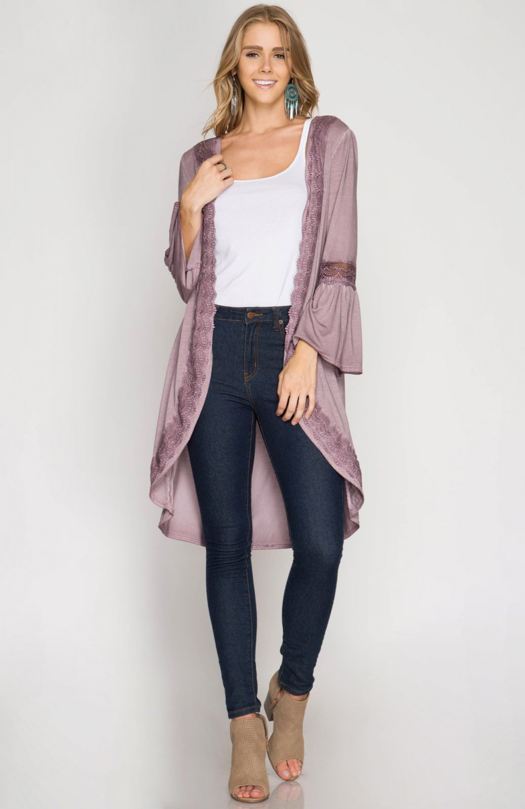 CARDIGAN Cover Up LILAC * RAYON