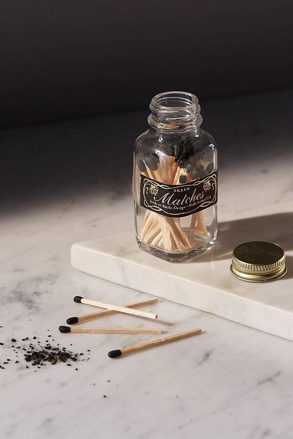 Mini Vintage Match Bottle - Black