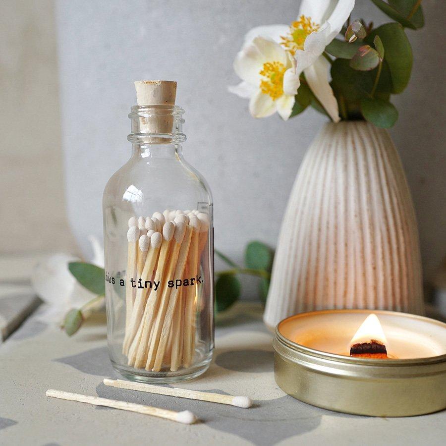 Poetry Mini Match Bottle - White