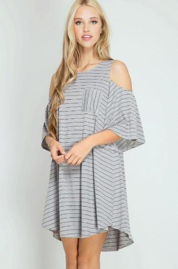 Dress -  Cold Shoulder * Junior / Miss / Adult Petite