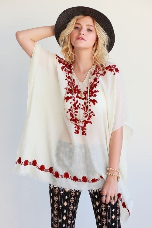 Cover Up PONCHO * ONE SIZE RESORT WEAR