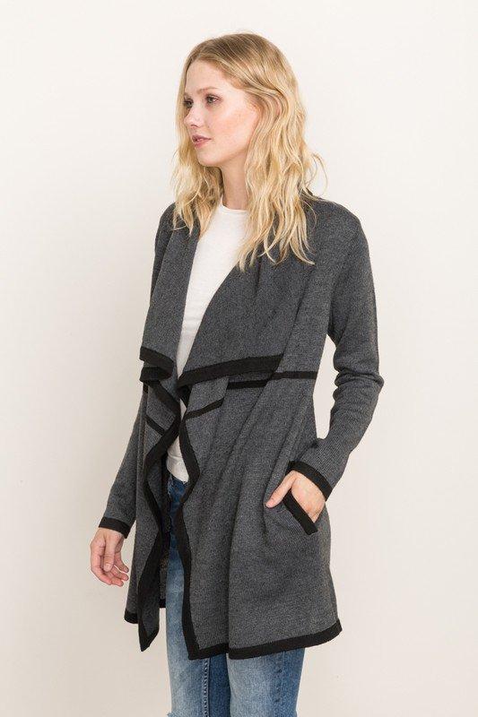 CARDIGAN - Car Coat Length Jacket * Women's