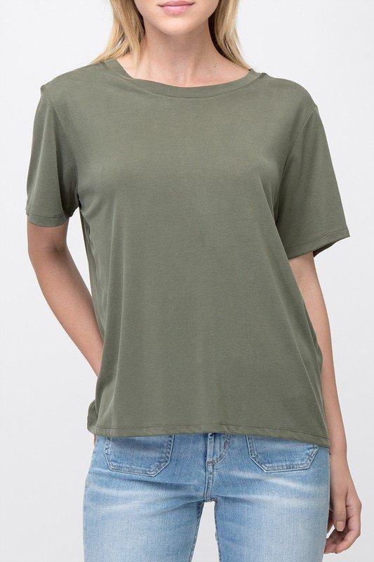 Tee - Short Sleeve OLIVE * MODAL