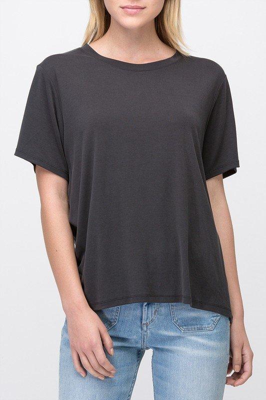 Tee - Short Sleeve BLACK * MODAL