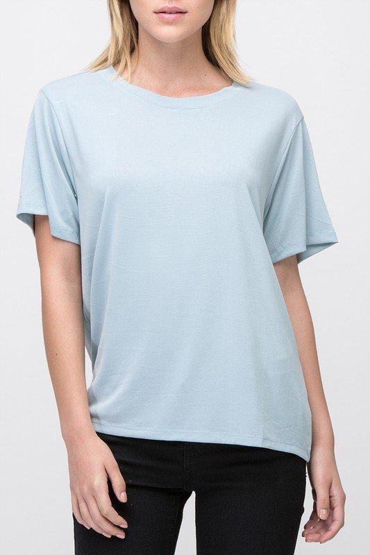 Tee - Short Sleeve BABY BLUE * MODAL