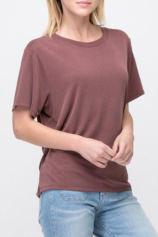 Tee - Short Sleeve MARSALA * MODAL