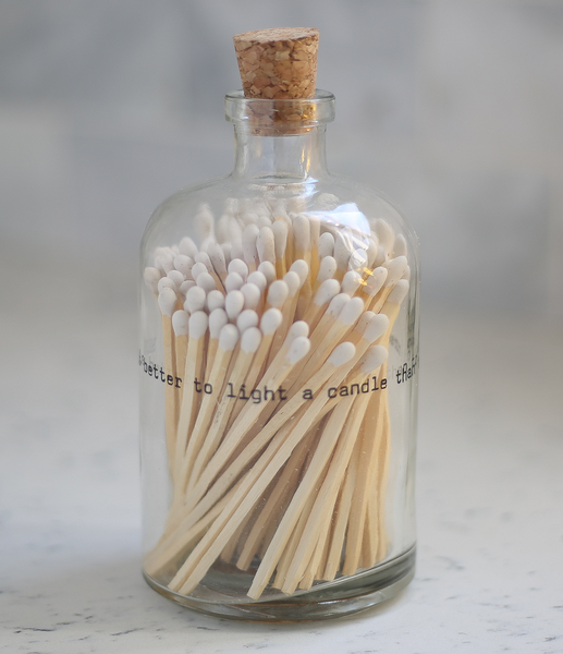 Poetry Large Match Bottle - White