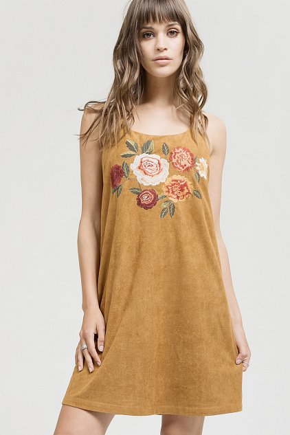 Dress -  Faux Suede Embroidered  *Jr / Ms / Adult Pt