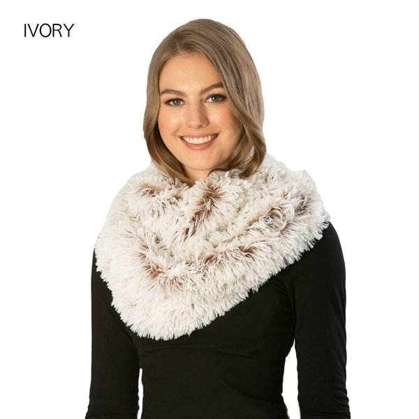 Faux Fur Shaggy Infinity IVORY