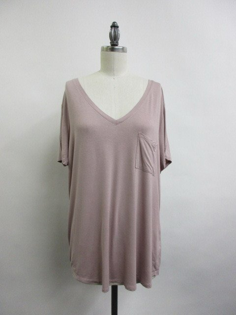 Tee - V-Neck DUSTY PINK * Women's Plus Size